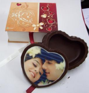 buy Printed Heart Box Chocolate by Chocolate Junction
