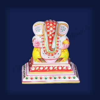 buy Ganesh Double Tile Marble Painted