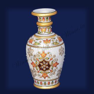 buy Flower Vase Marble Painted