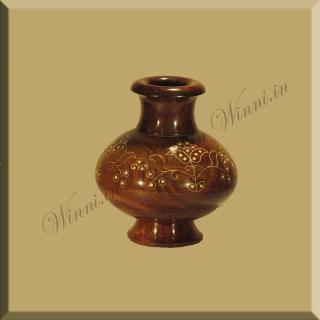 buy White Flower Inlaid Wooden Flower Pot