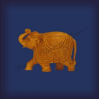 buy Trunk UP Elephant, Wooden Carving