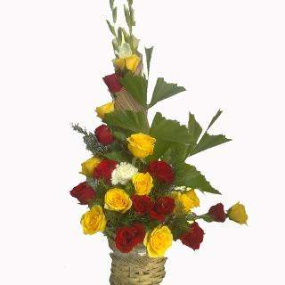 buy Charming Beauty  A basket of 10 Red and 10 Yellow Roses