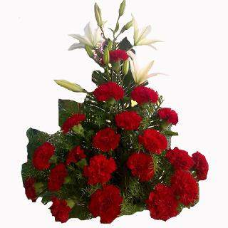 buy Intense Emotions  A basket of 25 Red Carnations