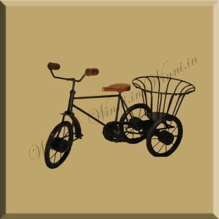 buy Iron cycle Rickshaw Basket ShowPiece