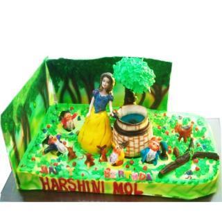 buy Girl playing in Garden( Pine Apple) Cake