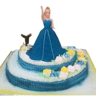 buy Doll Saying Hello( Pine Apple) Cake