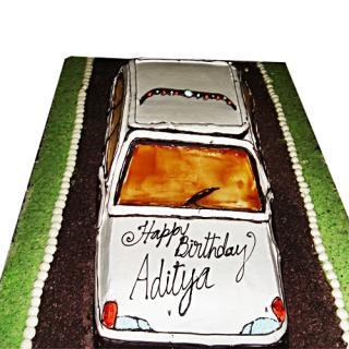 buy White Car ( Pine Apple) Cake