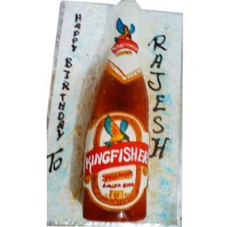 buy Beer Kingfisher ( Double Chocolate) Cake