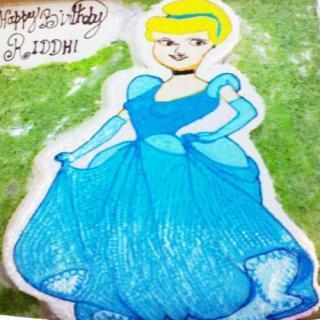 buy Blue Barbie( Pine Apple) Cake