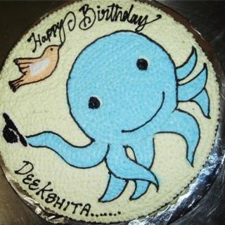 buy Blue Fish( Strawberry) Cake