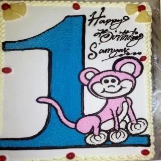 buy First Birthday Drawing Cake ( mango) Cake