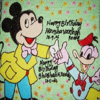 buy Micky With Donald ( Mango) Cake