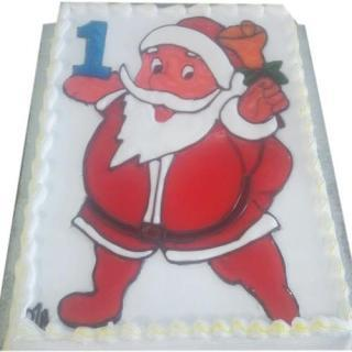 buy Santa With Gifts ( Chocolate) Cake