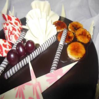 buy Toffeed Banana Chocolate Cake  (Eggless)