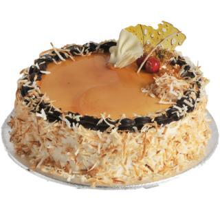 buy Caramel Choconuts Cake  (Eggless)
