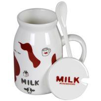 Witty White and Brown Cow Milk Mug