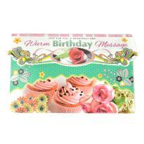 Warm birthday message greeting card
