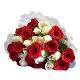 view Profound Love  A bunch of 15 Red and 15 White Roses