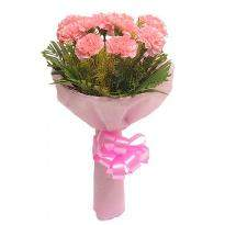 buy 10 Pink Carnations In Pink Packing