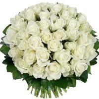 buy 50 White Rose Bouquet