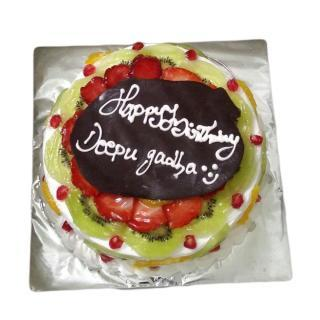 buy Fresh Fruit Gateaux Cake  (Eggless)