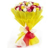 buy Magical Sunny 50 Mixed Roses