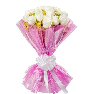 buy 12 White Roses Bunch