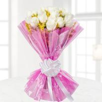 buy 24 White Roses Bunch