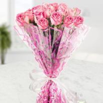 buy 25 Pink Roses Bunch