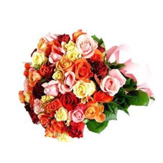 buy Gleeful Wishes A bunch of 30 Multicolor Roses