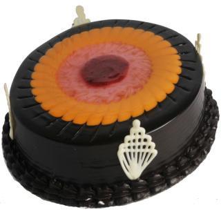 buy Duet Swirl (Chocolate  And Fruit) Eggless Cake
