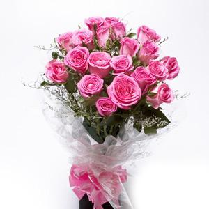buy 25 Pink Roses Bunch