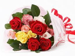 buy Memorable Moments A bouquet of 22 Multicolored Roses