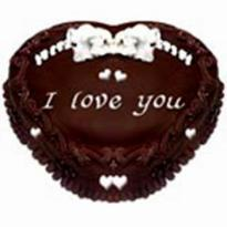 Chocolate Truffle Heart shape cake