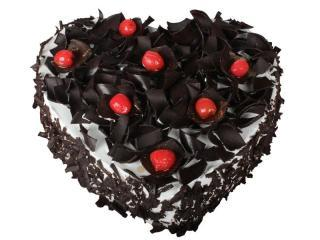 buy Heart Shape Black Forest Cake
