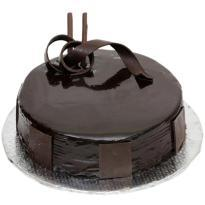 Plain Chocolate Cake delivery in akbarpur