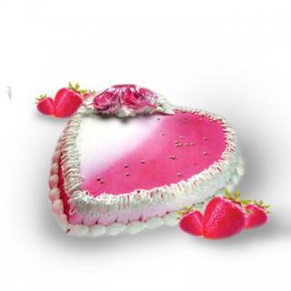 buy Strawberry Heart Shape Cake