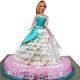 view Barbie Doll Eggless Cake