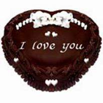 buy Chocolate Truffle Heart shape Eggless Cake