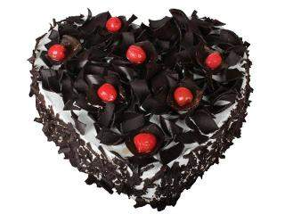 buy Heart Shape Black Forest Eggless Cake