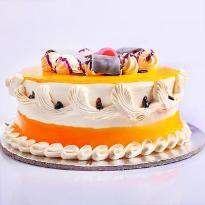 buy Yellow Roses And Eggless Cake