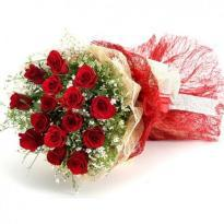 buy Perfect Rosy Red Roses in Red Packing
