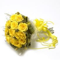 Sunny Yellow Roses Bunch delivery in ahmednagar