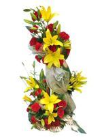 2 tier arrangement of Lilies