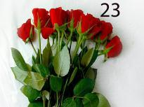 buy Style And Bright Red Roses Bunch