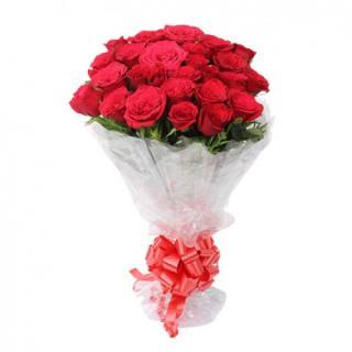buy Birthday Wishes Red Roses Bunch