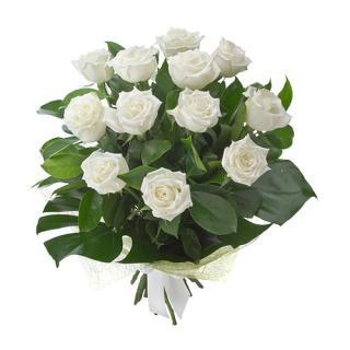 buy Thoughtful Wishes A Bouquet of White Roses