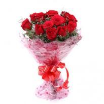 Lovingly Yours A bunch of 10 Red Roses delivery in ahmedabad
