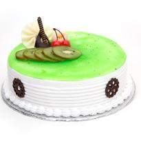 Kiwi Layered Eggless Cake