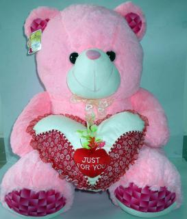 buy just for you fuzzy bear(light pink)